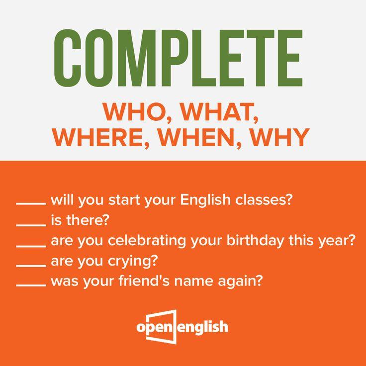 İngilizce soru bilgini ölçmeye ne dersin? Hadi boşlukları doldur!  #OpenEnglish
