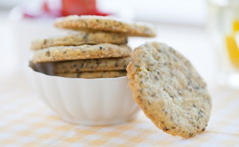 Pesto shortbread cookies!  Perfect for appies!