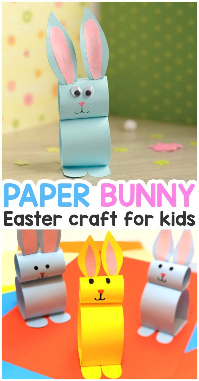Paper Bunny Easter Craft for Kids – #Bunny #Cra …