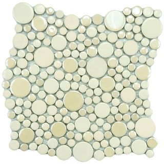 SomerTile 11.25x12-inch Posh Bubble Almond Porcelain Mosaic Tiles (Set of 10) loads of really interesting and different tiles