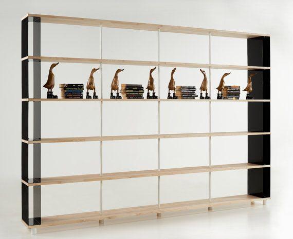 Modular Bookcase SKAFFA LEGNO Solid Wood Bücherregal Massiv Holz étagère H.211 by piarottolibrerie. Explore more products on http://piarottolibrerie.etsy.com