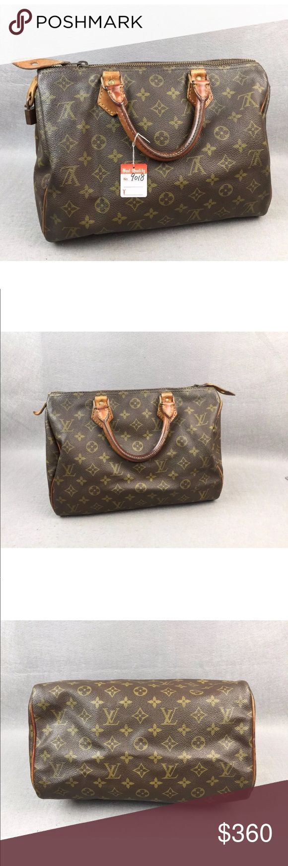 Authentic Louis Vuitton Speedy 30 Satchel Vintage Authentic Louis Vuitton speedy 30. Good condition, some hardware tarnished, leather aging, stains inside. Comes with padlock, no key. Date code SA823. Louis Vuitton Bags Satchels