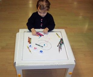 Zrób to sam - stolik do rysowania. DIY - How to make a functional children's coloring table.