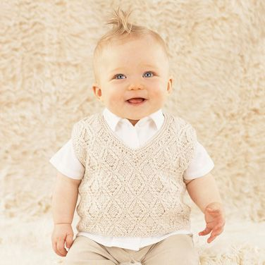 A classic little tank top for goegeous little boys - Jonty from the twelfth little Sublime hand knit book 665