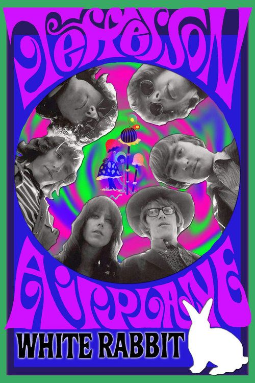 Jefferson Airplane Classic rock music concert poster psychedelic ☮ ☮❥Hippie Style❥☮☮