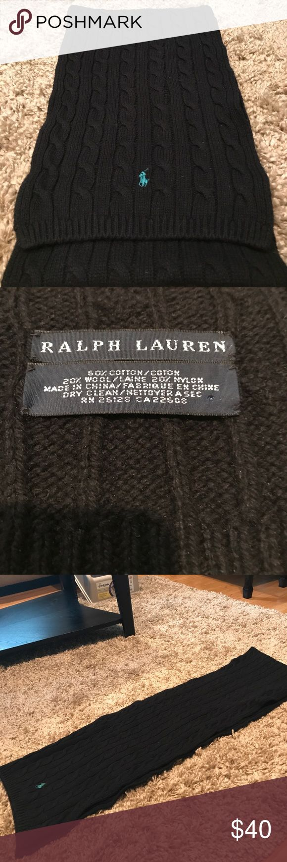 "Ralph Lauren Scarf I am not sure if it is for males or females but my client is female so I am listing it that way. Perfect condition no pulls  the width is 9.5""  the length is 70"" it is folded in half in the picture Ralph Lauren Accessories Scarves & Wraps"