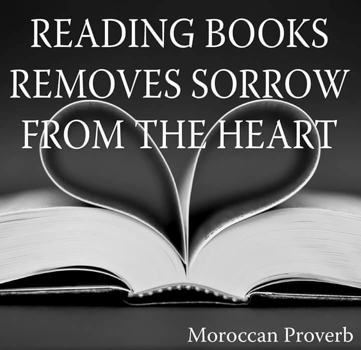 Reading books removes sorrow from the heart.