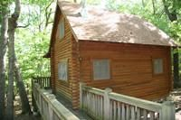 Camping Cabins at Lake of the Ozarks in the state park (electricity, but community bathrooms)