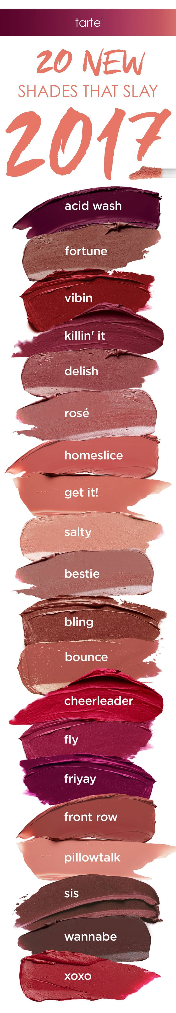 Eat and drink with no transferring while wearing our NEW tarteist™ quick dry matte lip paint! Available in 20 different shades for all-day vibrancy and comfortable wear. #tartecosmetics