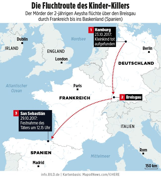 6 Tage nachdem er seiner Tochter (2) in Hamburg die Kehle durchschnitt - So fassten sie den Kinder-Mörder! - News Inland - Bild.de