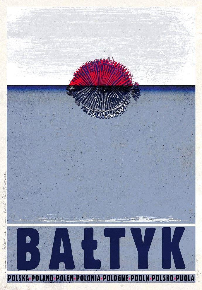 POLSKA Bałtyk Plakat promocyjny Ryszard Kaja