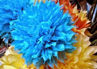 Papírvirágok szalvétából. Paper flowers