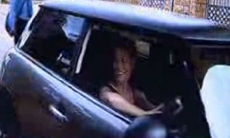 Man Superman Gunman | A still from CCTV footage shows the last picture of Reeva Steenkamp alive, as she arrives at Oscar Pistorius' estate on the night she died. Pistorius allegedly shot and killed Reeva at his Pretoria home on Valentine's Day 2013. | Photo: Carte Blanche, M-Net