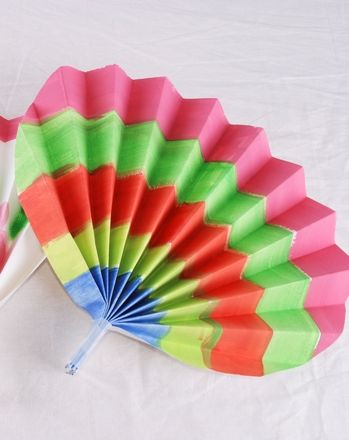 Korean Paper Fans. I might change this to a Spanish Fan for my Art History Spanish Princess Party - Fun!