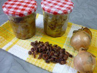 Compotée d'oignons aux raisins secs / I.G.