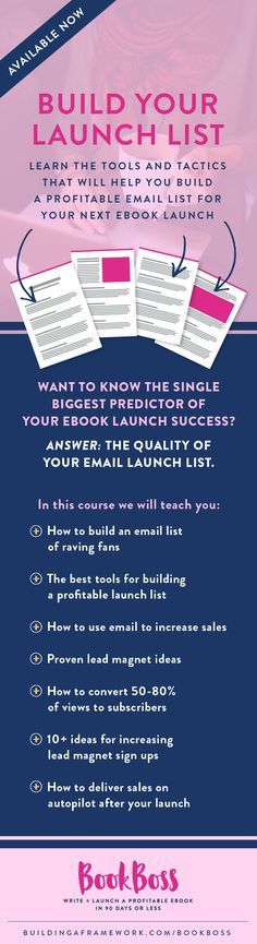 57 best book launch pre launch images on pinterest daily writing learn the tools and tactics that will help you build a profitable email list for your fandeluxe Images