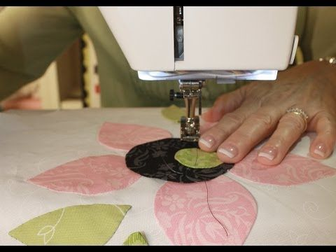 How to Machine Applique' using Fusible Web featuring a Cute Cat Quilt Block - Fat Quarter Shop - YouTube