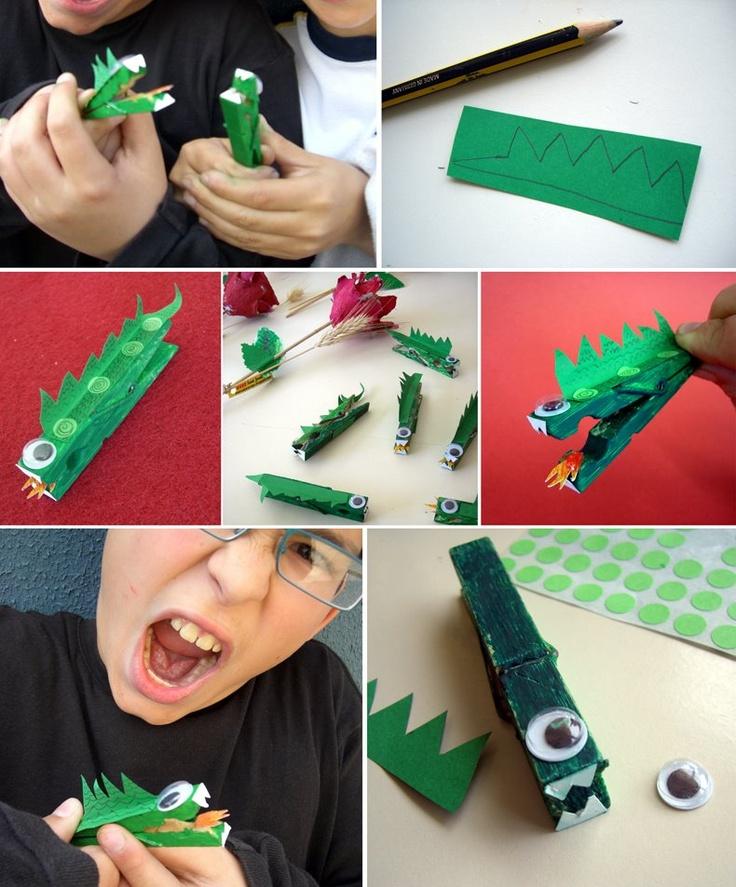 Clothespin Dragon craft