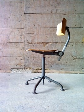 Fab and rare industrial chair by: W. H. Gispen. Only one known that's standing in the Gispen museum!