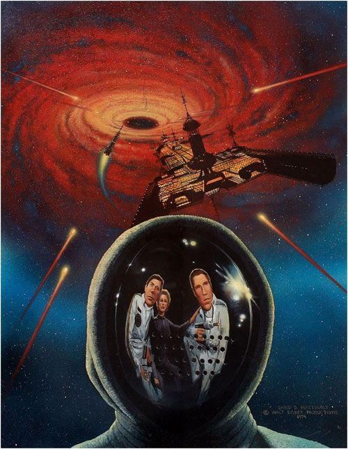The Black Hole 1979 | space1970: THE BLACK HOLE (1979) Promotional Art by David Mattingly