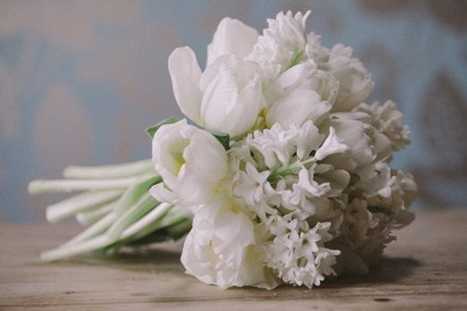 wedding flowers 2013 | ... wedding bouquet of white tulips and hyacinths | The Natural Wedding