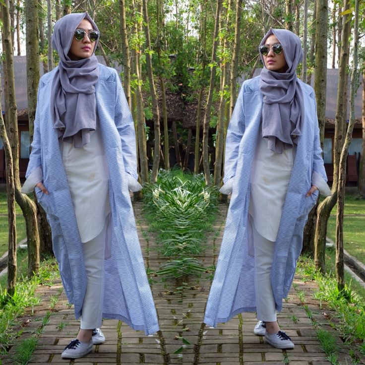 Hijab Style | Outer - Stripe - outwear