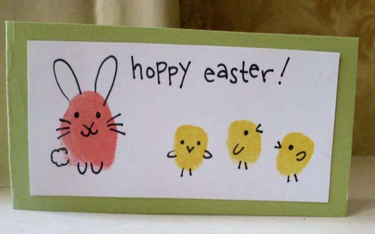 Fingerprint Easter card