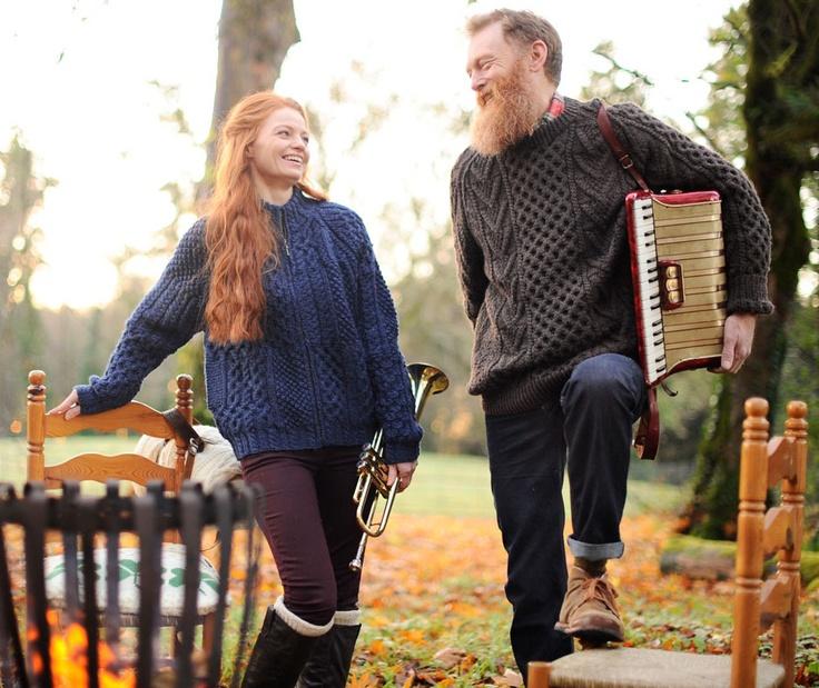 Handknit Traditional Style Aran Sweaters - www.standun.com
