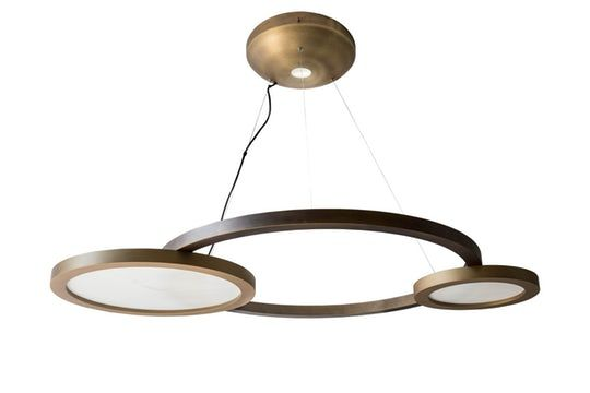 Eclisse  Contemporary, Upholstery  Fabric, Chandelier by Contardi Lighting
