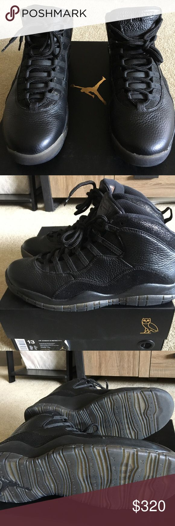 Jordan OVO 10 Black Jordan OVO 10 men's size 13. Worn once. Basically perfect condition! Original box and original receipt included! Air Jordan Shoes Sneakers