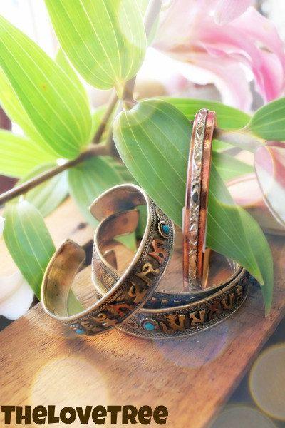 Healing Copper Bracelet Two Tone Magnetic Copper by ShopLoveTree