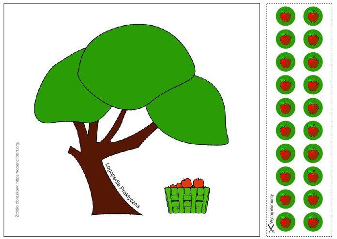 Trzy jabłuszka – utrwalamy głoski szumiące   Logopedia Praktyczna