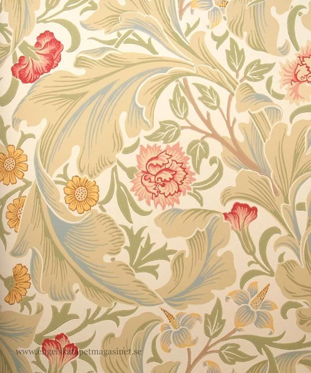 William Morris Leicester Tapet. Consider one of these beautiful wallpapers by William Morris for your bungalow