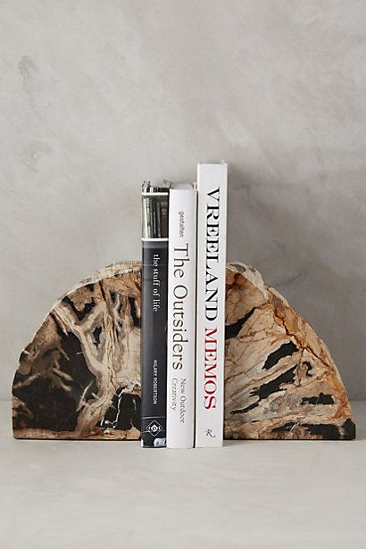 Petrified Wood Bookends #anthropologie