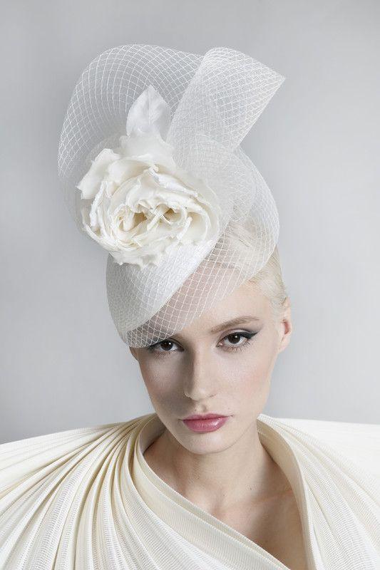Philip Treacy London | Diamond Beret | Ivory and Berets | LOVEHATS.COM