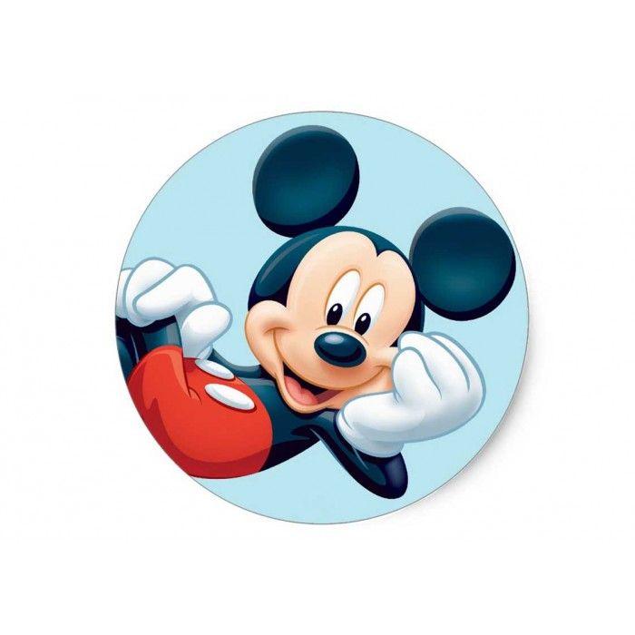 Mickey Mouse 2 Yuvarlak Yenilebilir Pasta Resim Baskısı