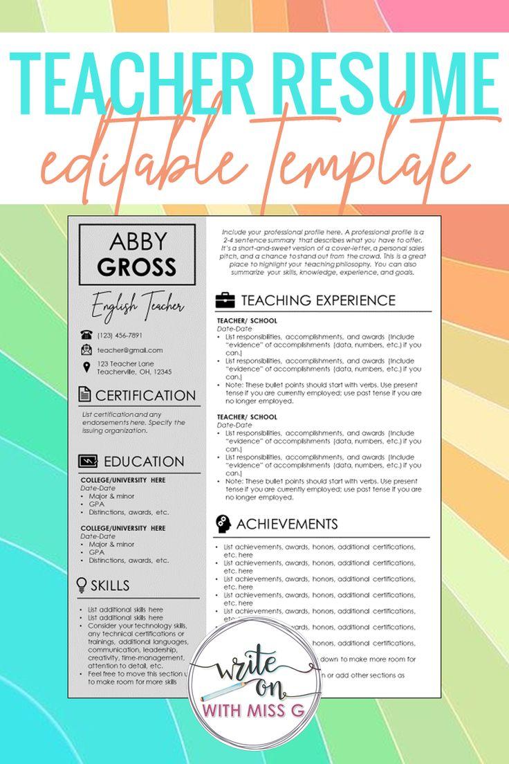 Teacher resume cover letter templates stepbystep