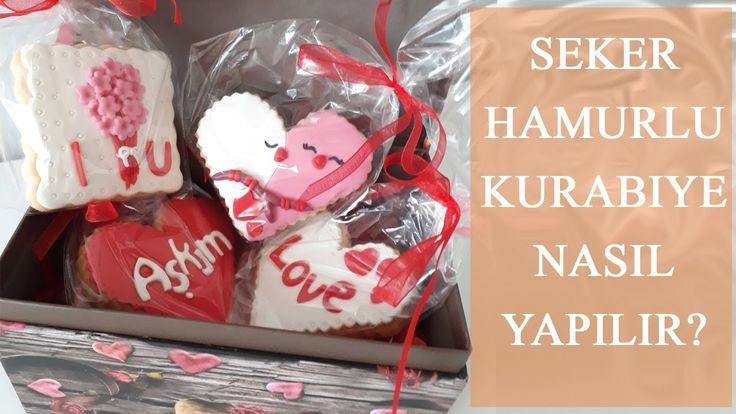 ŞEKER HAMURLU KURABİYE SÜSLEMESİ | Valentine's Day Cookies | SEVGİLİLER ...