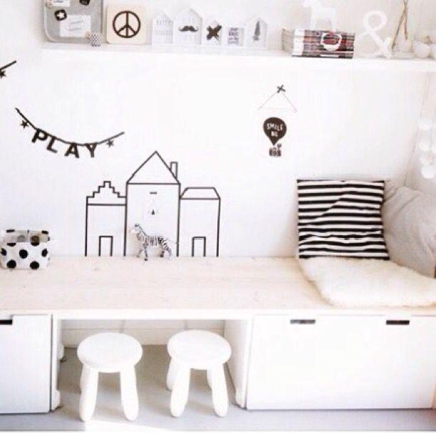 17 beste speelkamer idee n op pinterest speelkamer kinderen speelkamer en peuter kunstwerk - Idee schilderen ruimte ontwerp ...