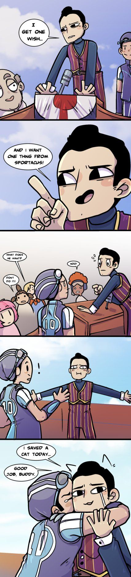 Lazy Town Comic by Arkay9.deviantart.com on @DeviantArt