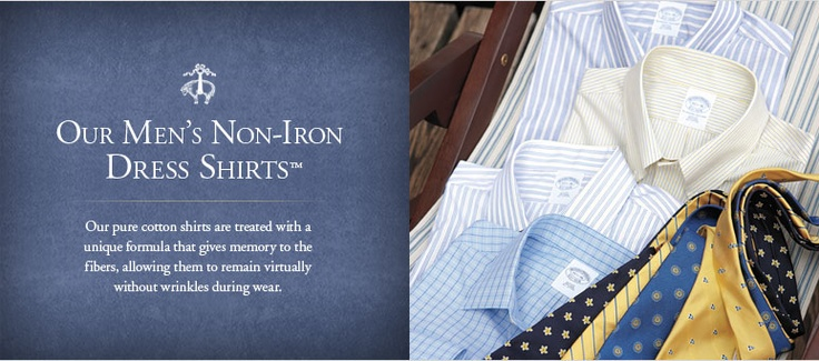These are, bar none, the BEST dress #shirts. Truly—no iron required. Wash, dry & they look amazing.