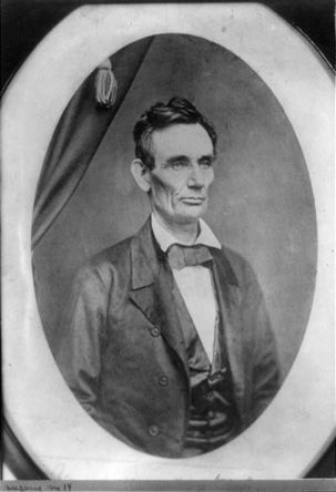 Lincoln said this was one of his favorite photographs. He used it heavily during the 1858 campaign, distributing it to supporters (via @mental_floss)