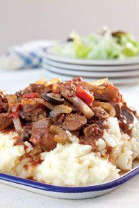 Paula Deene's Slow-Cooker Swiss Steak...serve over mashed potatoes for a yummy dinner!!