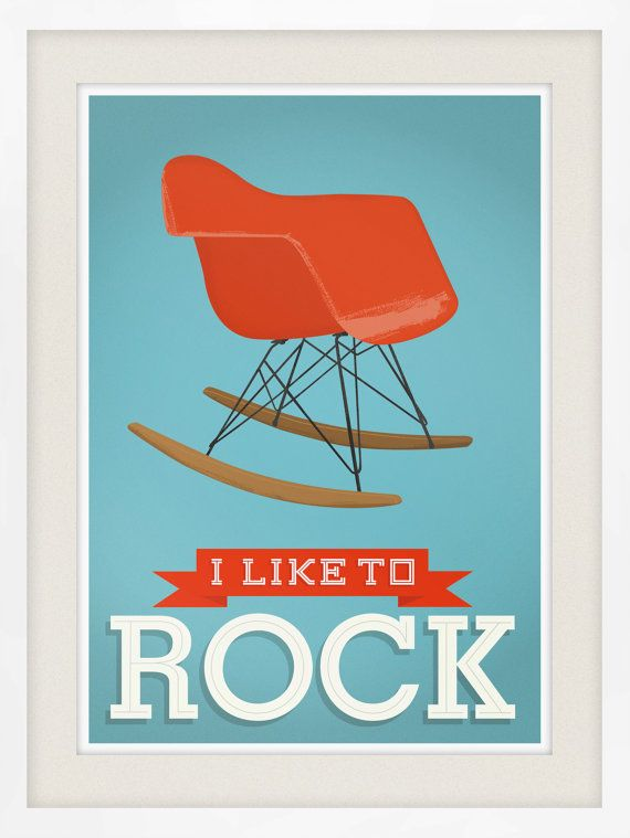 Eames Poster Mid century modern art living rom art quote by handz
