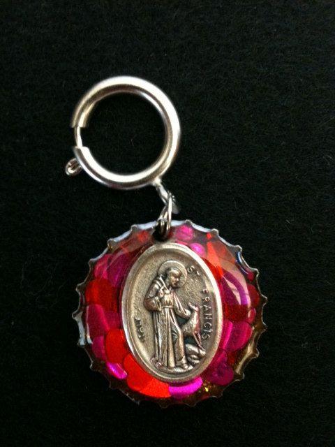 St Francis Dog Collar Charm