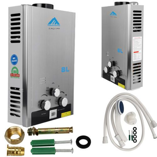 Home 8l 16kw #stainless natural gas instant hot water #heater boiler #bathroom,  View more on the LINK: http://www.zeppy.io/product/gb/2/171977108600/