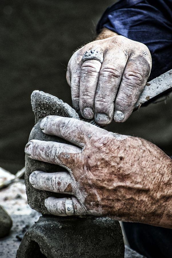 Ceramist's Hands