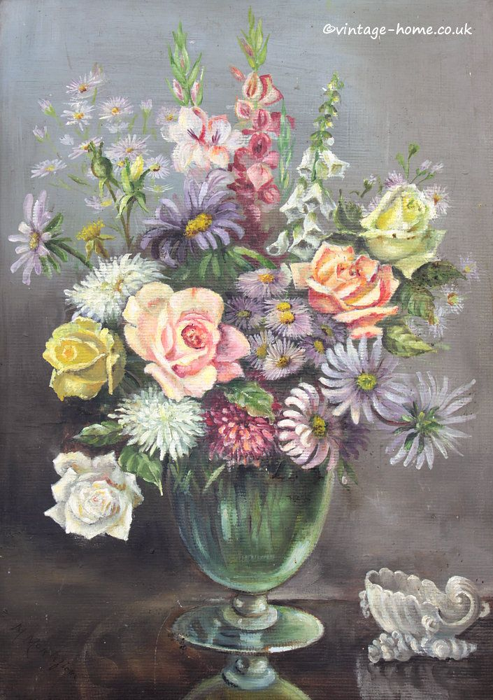 311 Best Vintage Paintings And Prints Images On Pinterest Art Floral Flower Art And Vintage