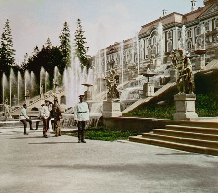 Petergoff, St Petersburg in spring of 1896- The official palace of The Romanovs, before the coronation of Nikolay II