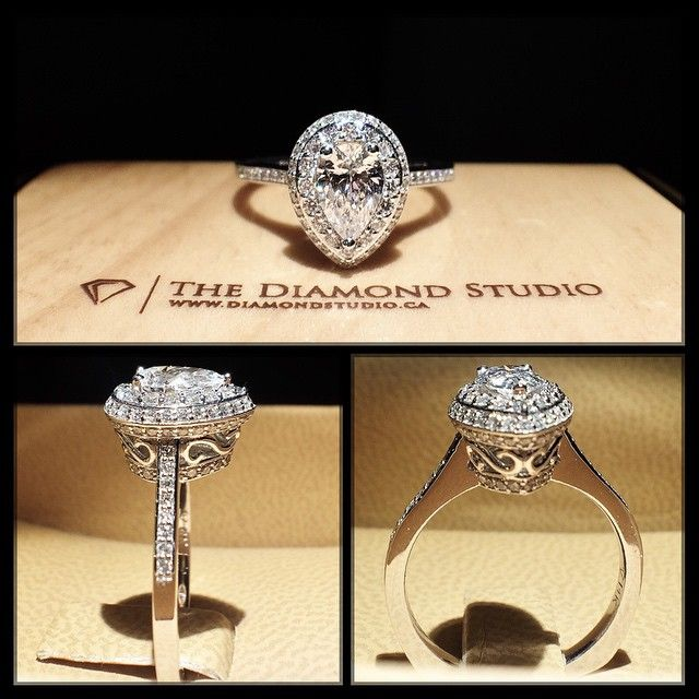 Vintage Pear Shaped Diamond
